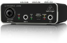Behringer U-PHORIA UM2 Audiophile 2 x 2 USB Audio Interface with XENYX Mic Preamp